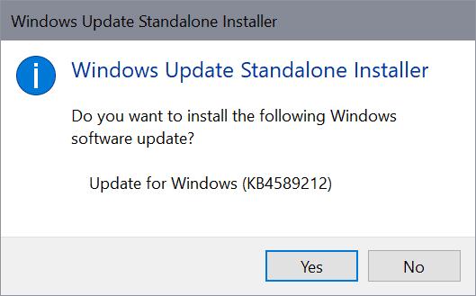 windows update standalone install