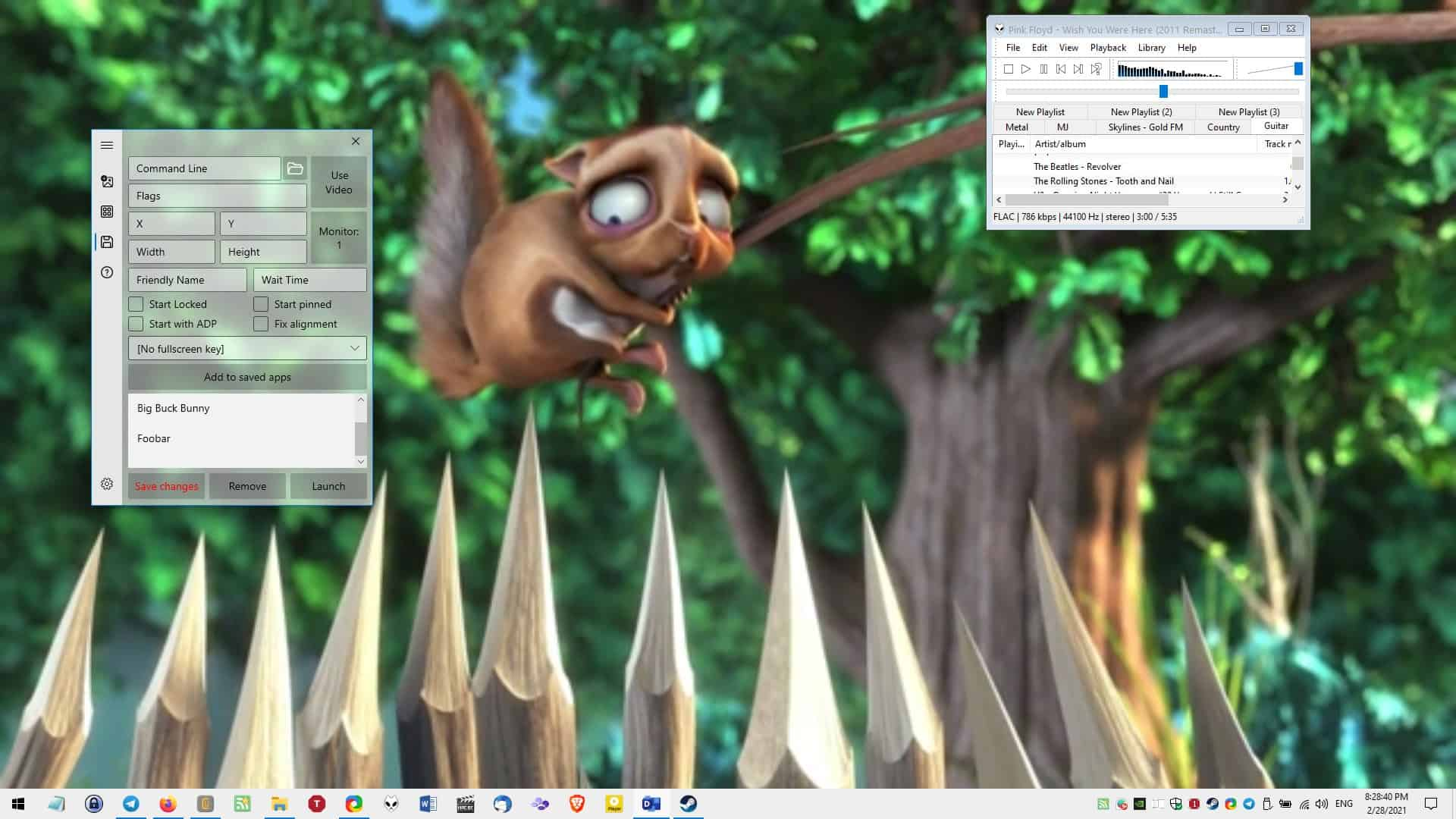 Active Desktop Plus is an open source program that allows you to pin other programs to the desktop and use video wallpapers