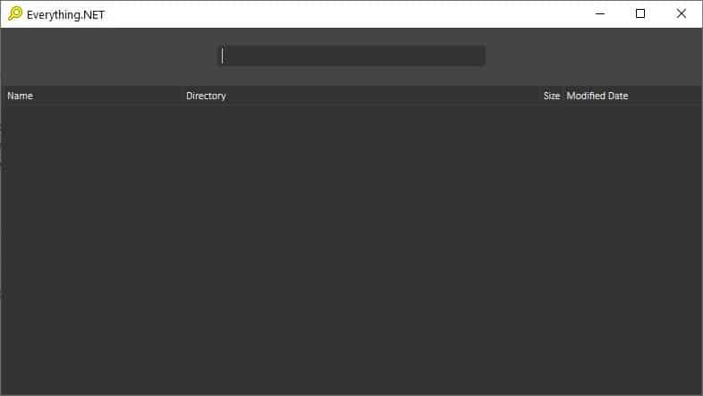 Everything.NET is a frontend that adds a dark mode and some additional functions to the Everything search engine