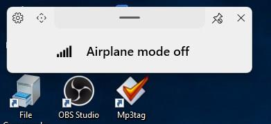 ModernFlyouts airplane mode