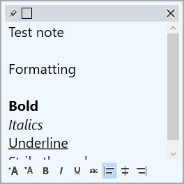 PeperNote text formatting