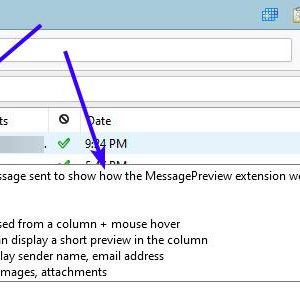 View a mail's contents quickly without clicking on it with the MessagePreview extension for Thunderbird