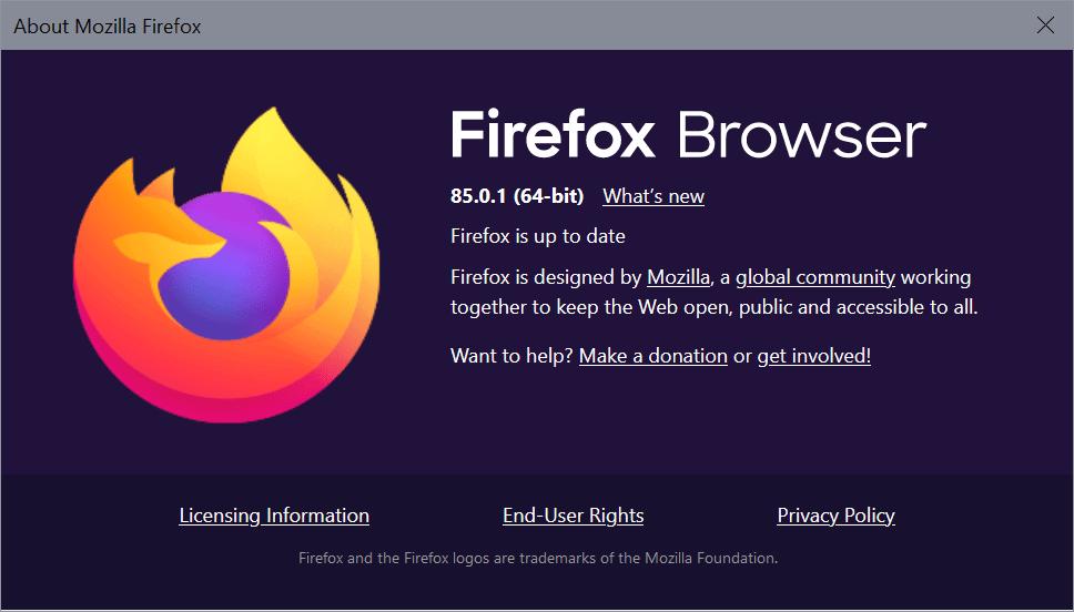 firefox 85.0.1