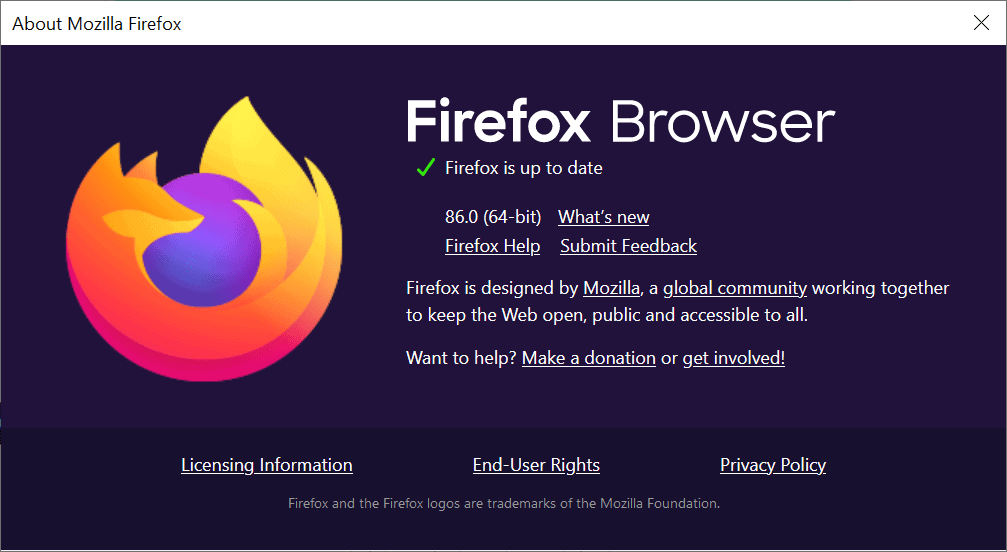 Here is what is new and changed in Firefox 86.0