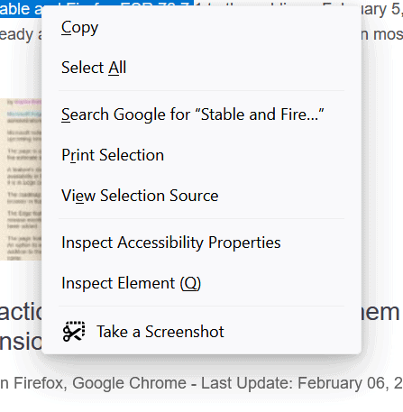 firefox-context menu redesign
