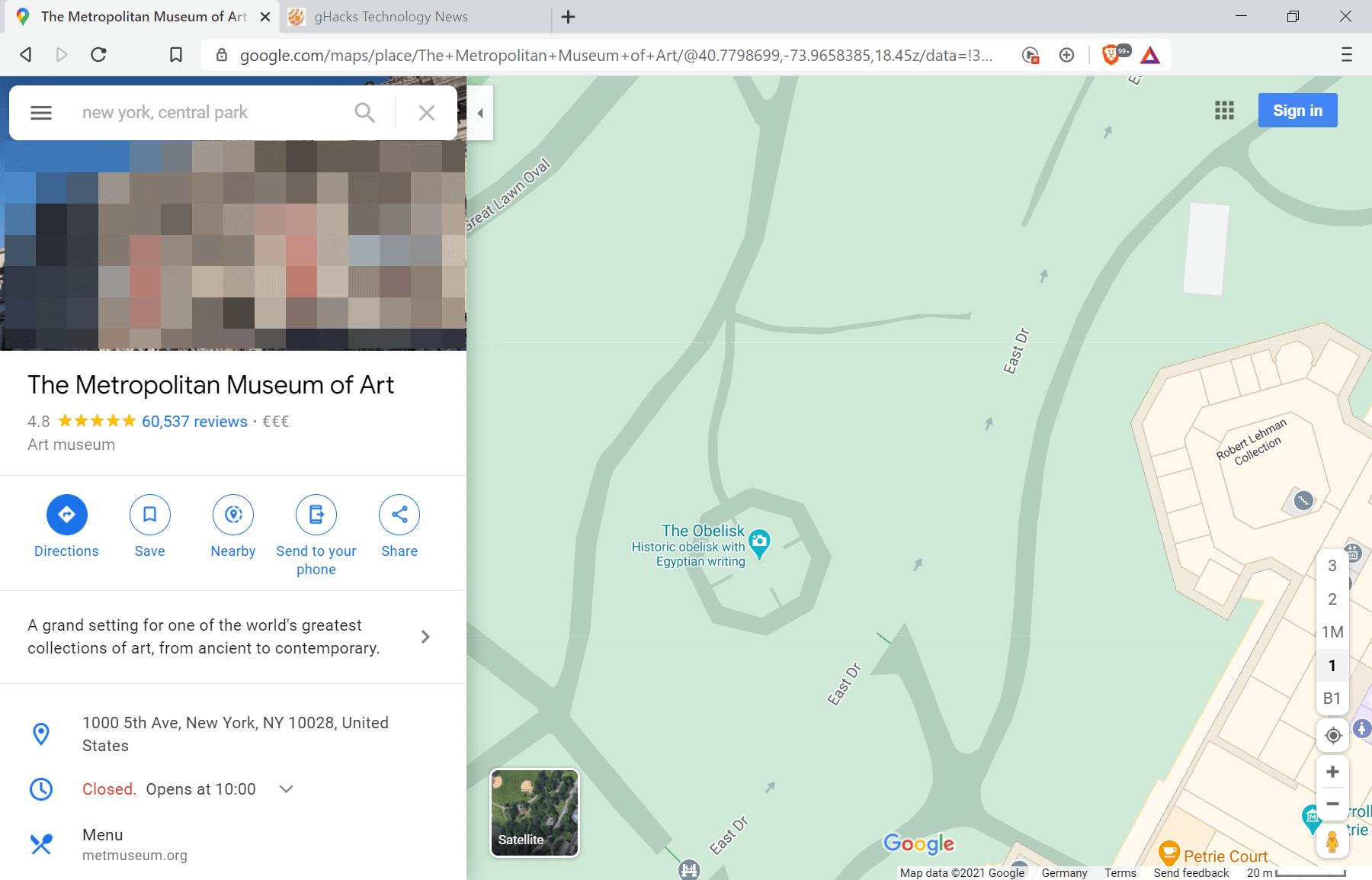 google maps footpath issue