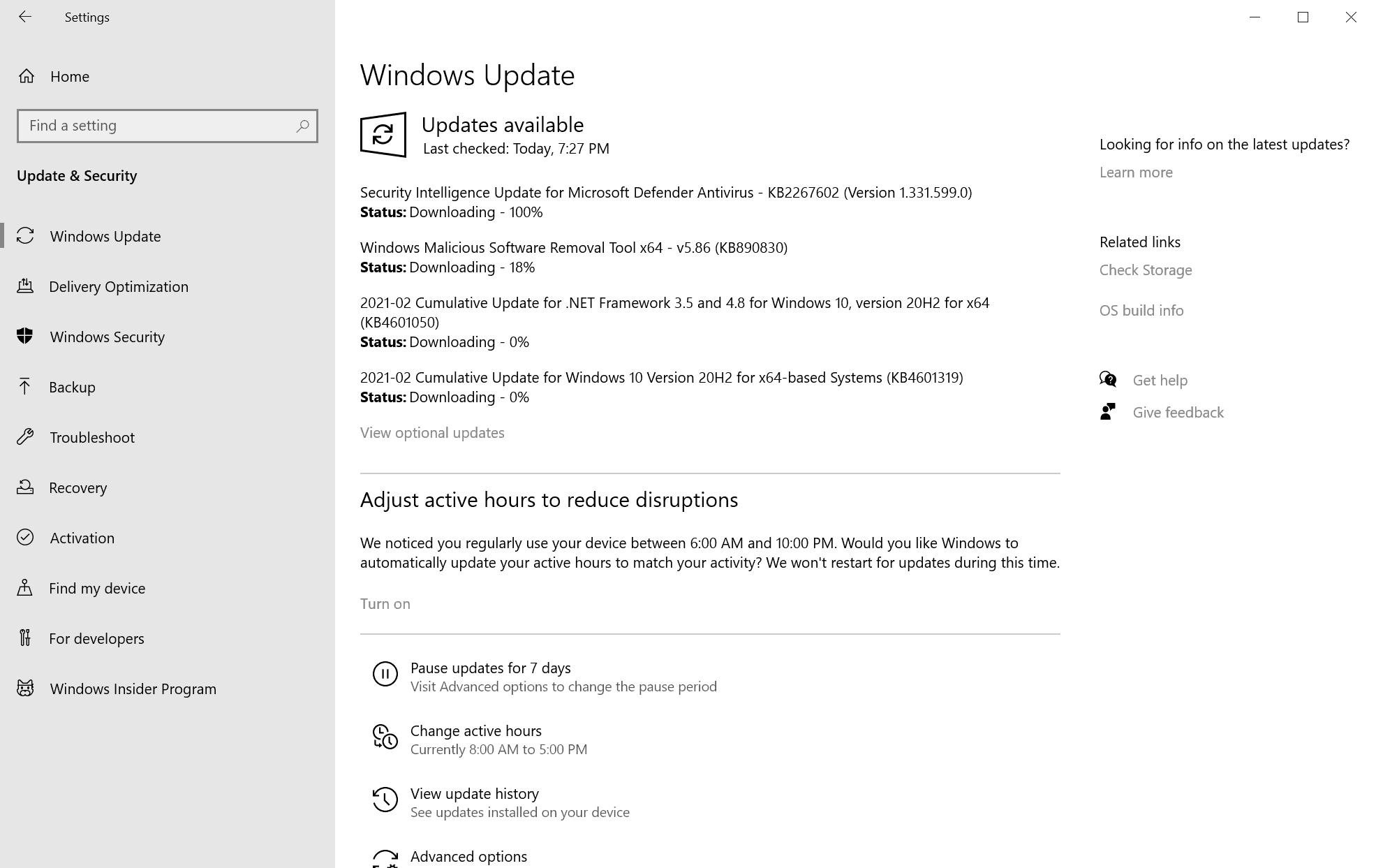 microsoft windows security updates february 2021