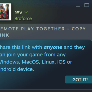 steam remote play together without account