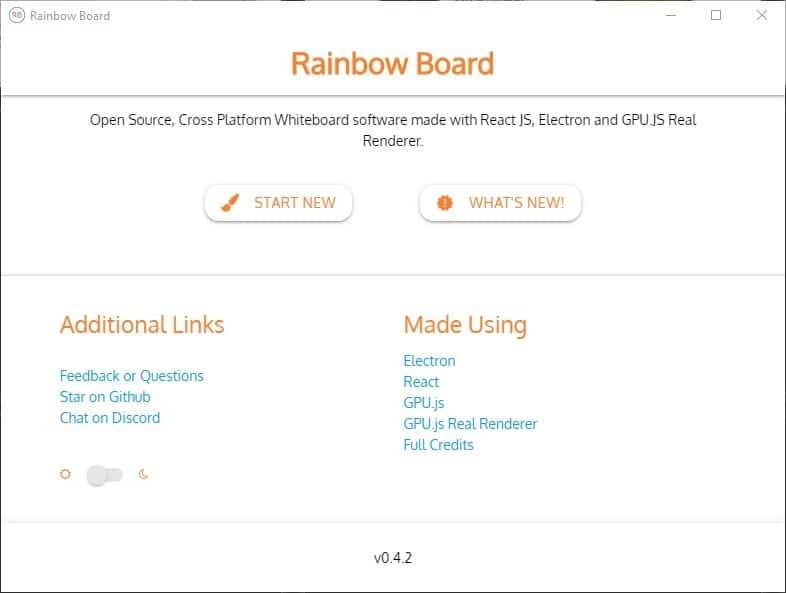 Rainbow Board is an open source whiteboard application