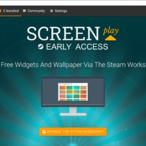 ScreenPlay is an upcoming program that lets you set videos as your desktop background