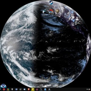 SpaceEye fetches satellite images of the Earth and sets it as your desktop wallpaper