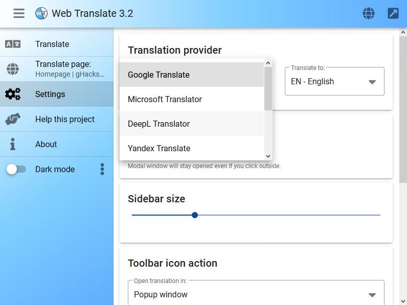 Web-Translate-choose-translation-service