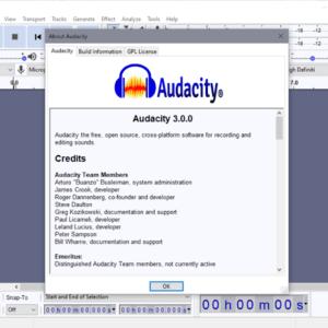 audacity 3.0.0 audio editor