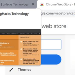 google chrome tab preview