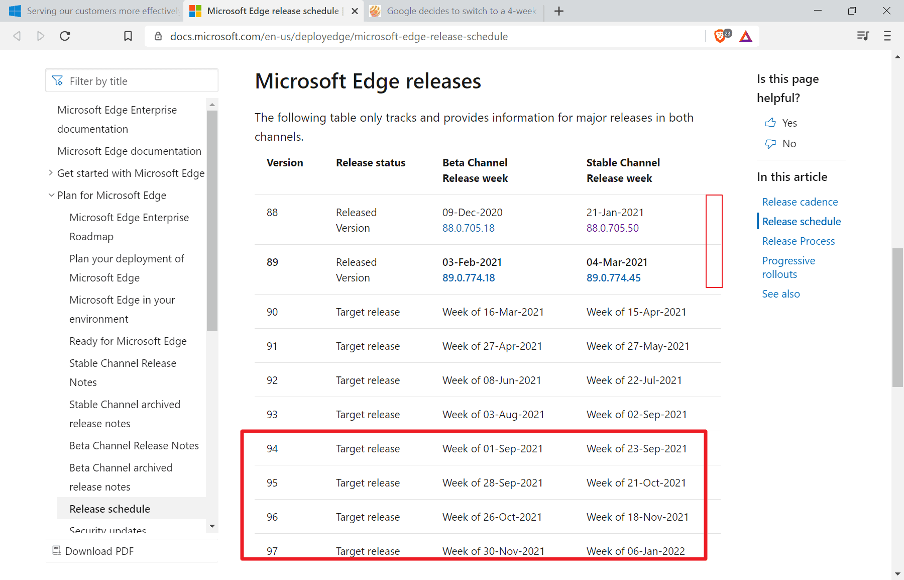 Microsoft adopts new Chromium 4-week release cycle