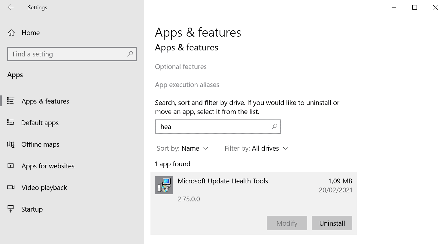 microsoft update health tools