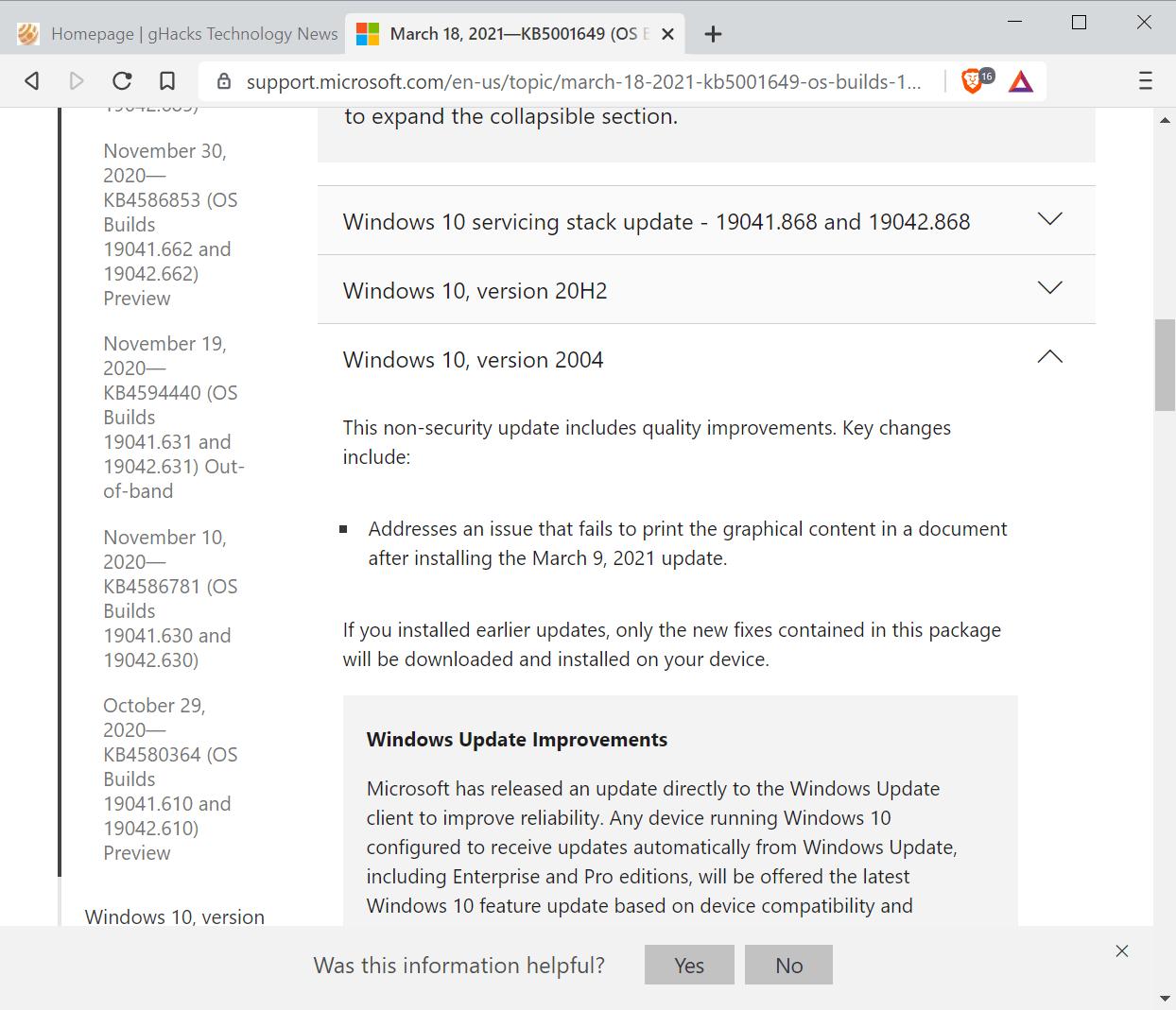 windows 10 printing fix optional update