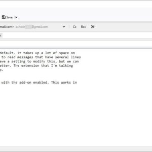 word wrapping in Thunderbird fixed