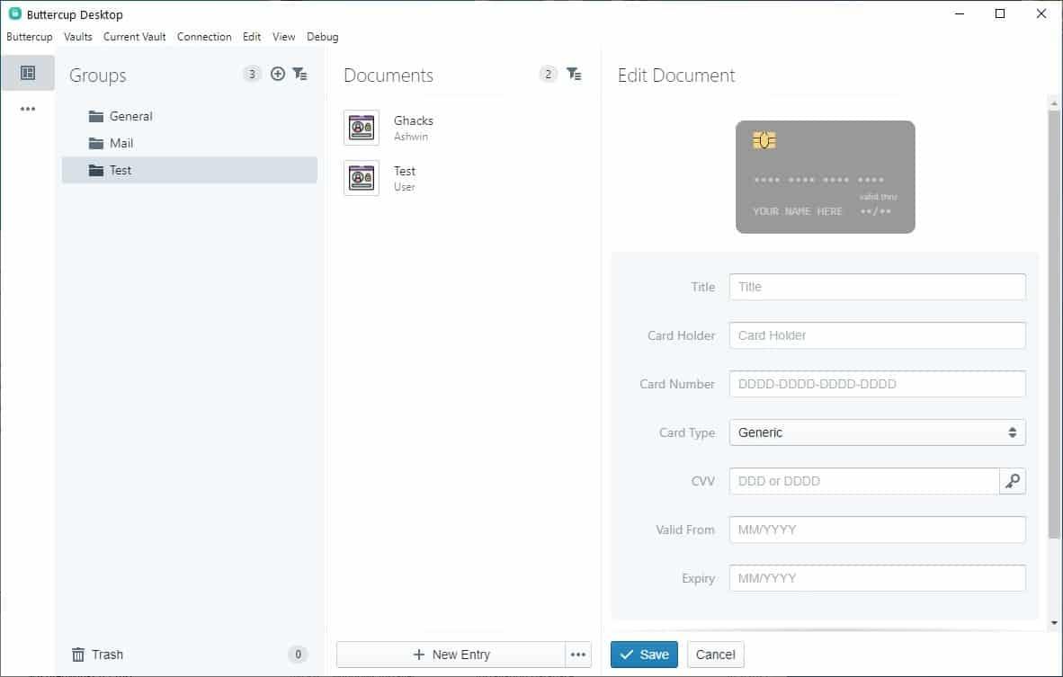 Buttercup 2.0 - add a credit card fields