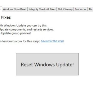 Fixdows is an open source utility that helps you fix errors related to Windows Update, Microsoft Store app and more