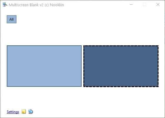 Multiscreen Blank - blanked screen