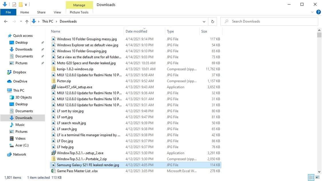 Windows 10 Folder Grouping disabled