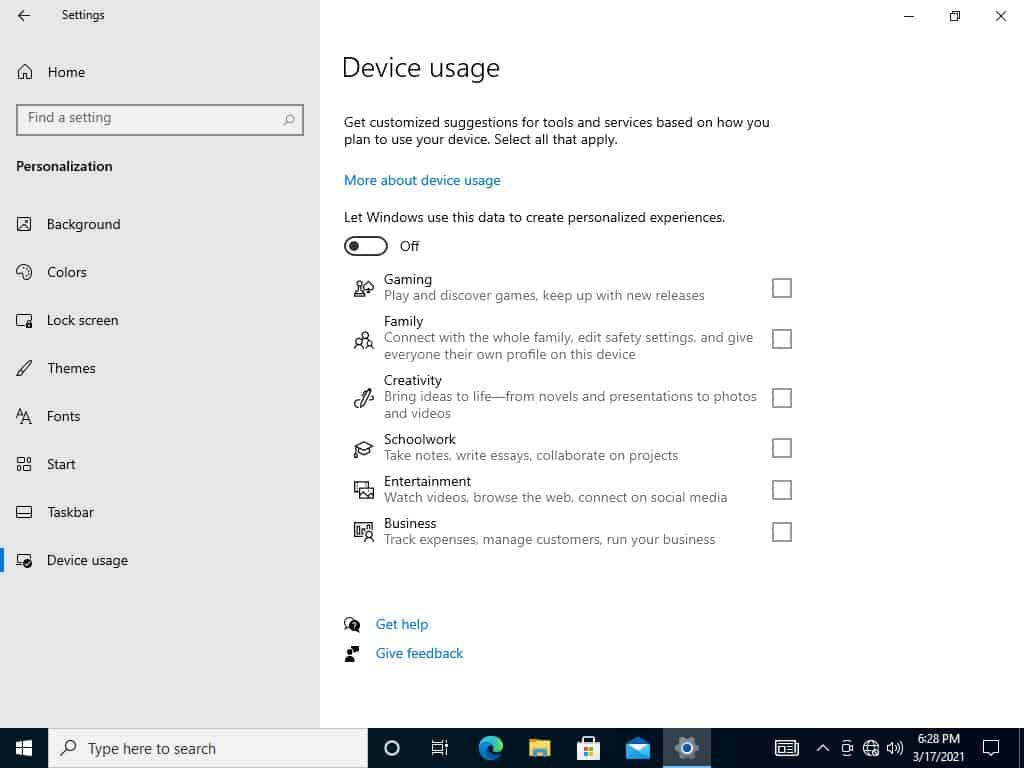 device usage