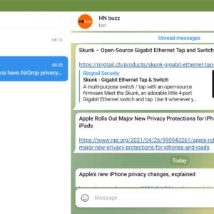 telegram web interface