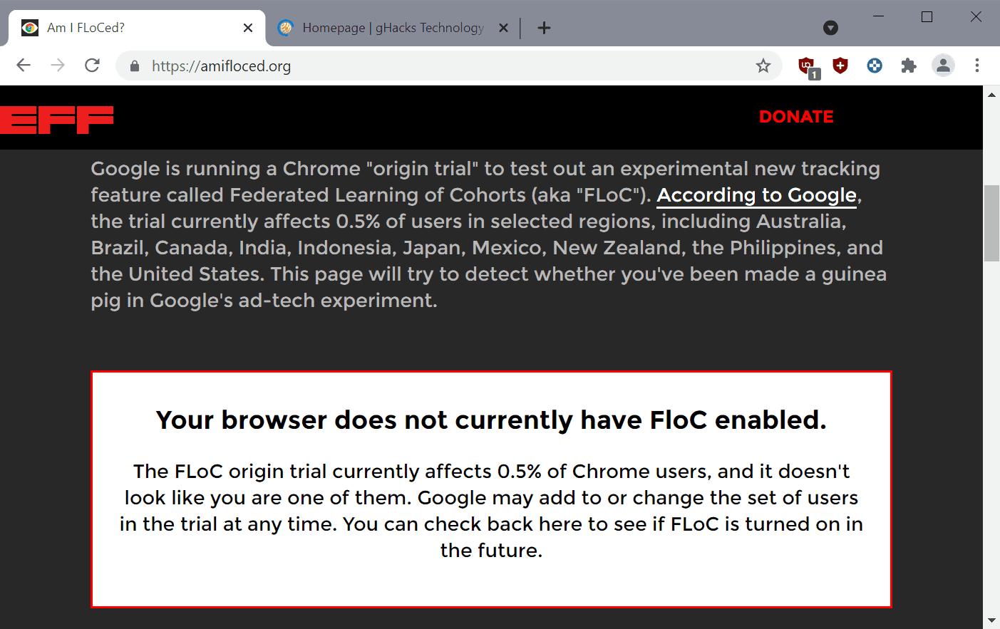 test floc enabled