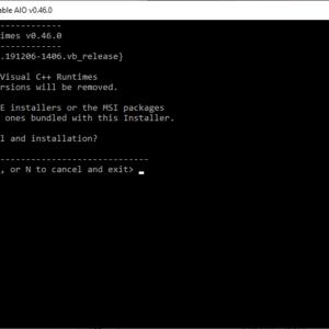 visual cpp runtime installer