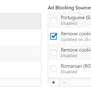 vivaldi remove cookie warnings
