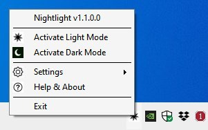 Nightlight interface