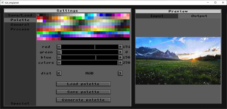 SLK_img2pixel color palette