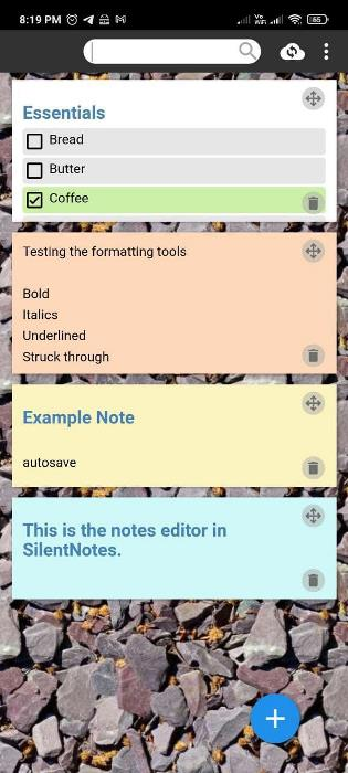 SilentNotes Android app