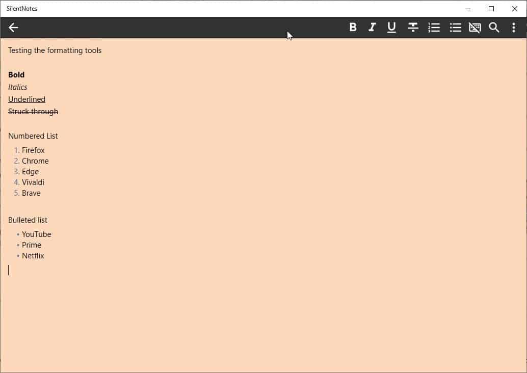 SilentNotes notes editor