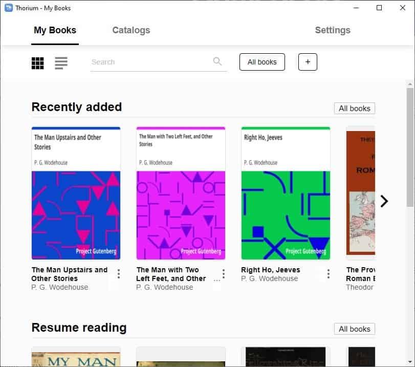 Thorium Reader - My Books