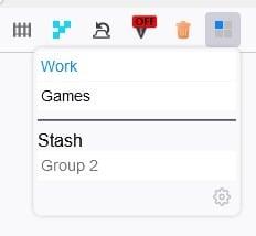 Tiled Tab Groups access stash