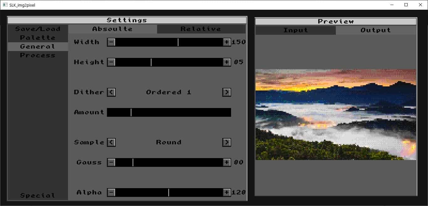 Transform pictures into pixel art with SLK_img2pixel