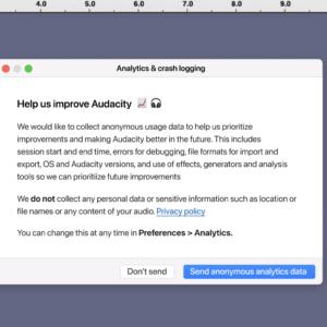 audacity telemetry