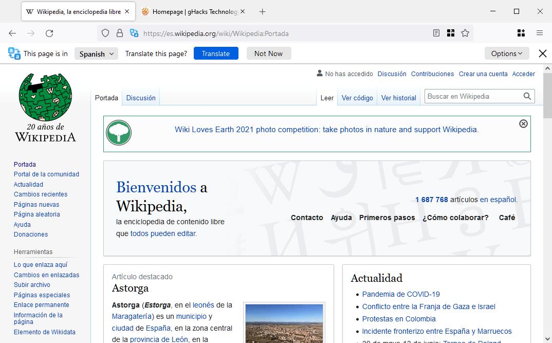 Firefox built-in translations