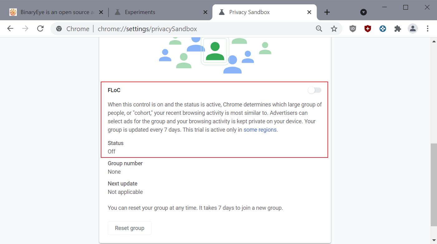 google floc chrome disable