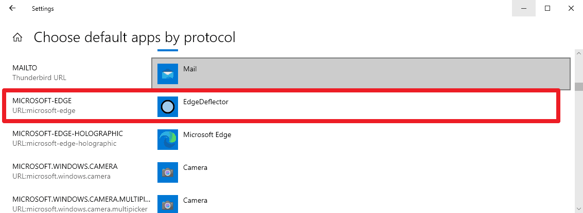 microsoft edge redirect other browser