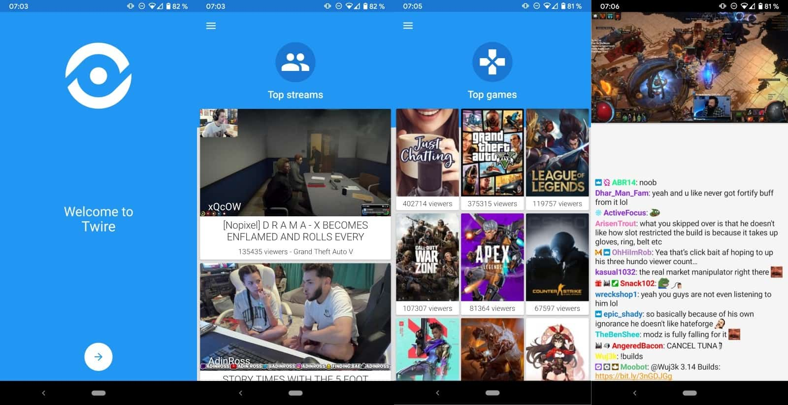 twire twitch app android