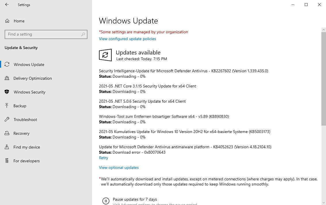 windows 10 updates may 2021