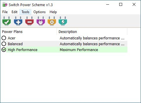Change your computer's power plans quickly with Switch Power Scheme