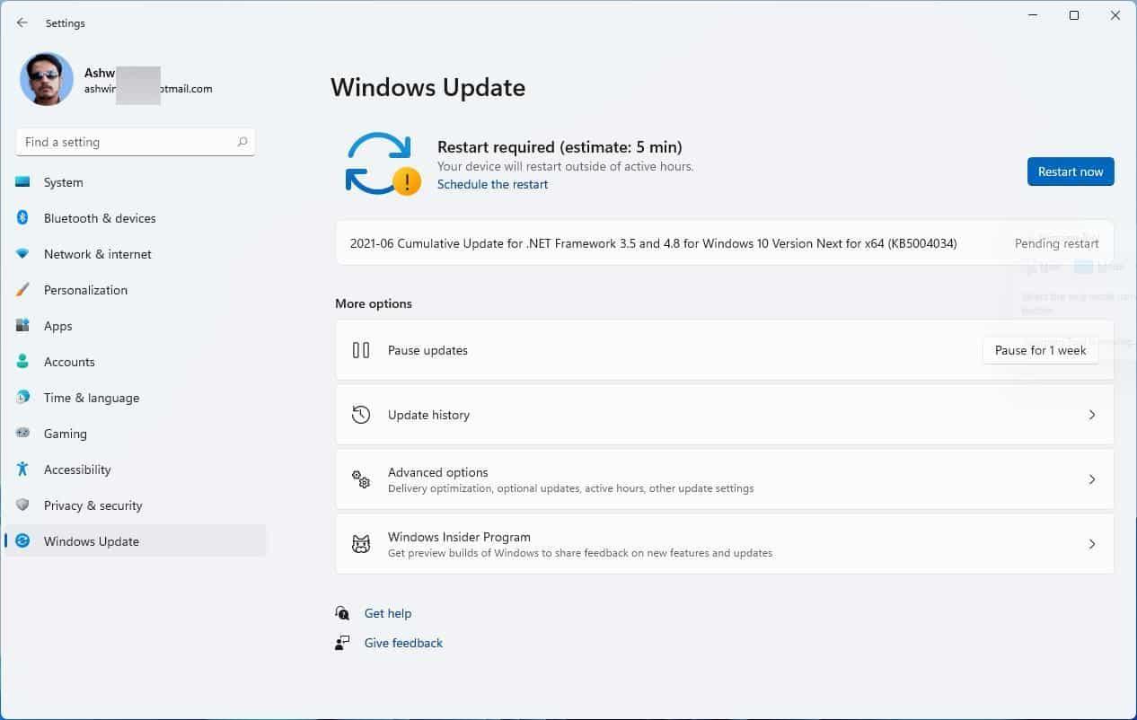 ETA to install Windows 11 Updates