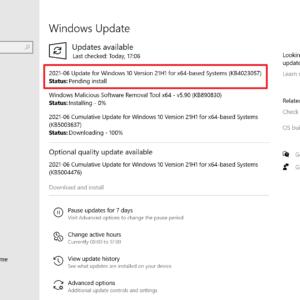 KB4023057 windows 10 june 2021