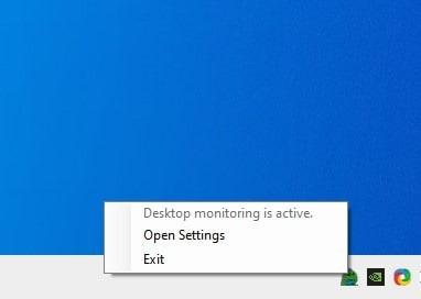 Tidy Desktop Monster tray menu