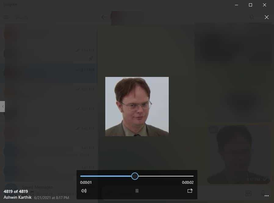 Unigram animated GIF viewer