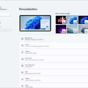 Windows 11 Themes Personalization